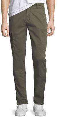 John Varvatos Men's Twill Cargo Pants with Zipper Detail