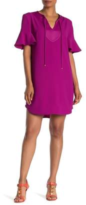 Trina Turk Donatella Short Sleeve Solid Dress