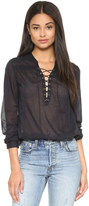 PAIGE Tansy Blouse $189 thestylecure.com