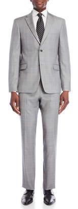 Tommy Hilfiger Two-Piece Light Tan Vassar Plaid Wool Suit