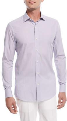 Ermenegildo Zegna Micro-Dot Woven Sport Shirt