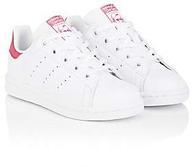 adidas Kids' Stan Smith Leather Sneakers-Ftwwht, Ftwwht, Bopink