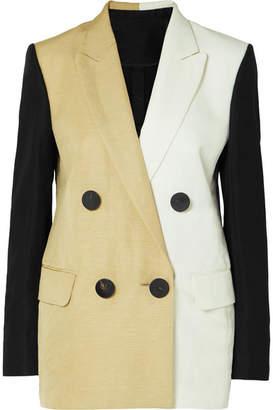 Petar Petrov Color-block Linen-blend Blazer