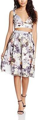 boohoo Petite Women's Jodie Floral Bralet + Aline Skirt Co-Ord,4