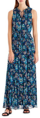 Jason Wu GREY Floral-Print Sleeveless Maxi Dress