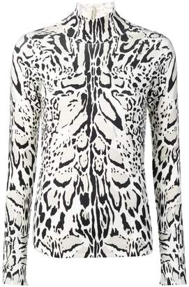 Roberto Cavalli lynx-print turtleneck sweater