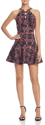 Parker Rayan Lace-Up Mini Dress $298 thestylecure.com