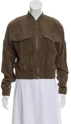 J Brand Textured Zip-Up Jacket w/ Tags