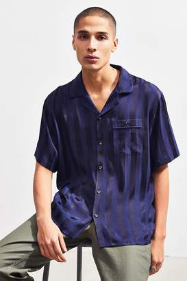 Loom Tonal Stripe Short Sleeve Button-Down Pajama Shirt