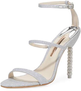 Sophia Webster Rosalind Crystal-Heel Glitter Sandal