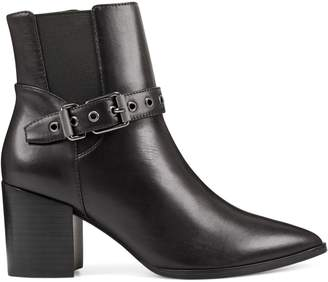 Nine West Giah Buckled Leather Booties