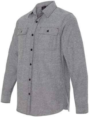 Burnside 8200 Men's Long Sleeve Solid Flannel Shirt Heather Grey 3XL