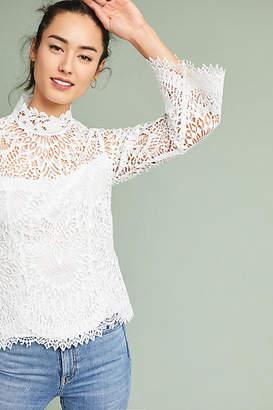 Nanette Lepore High-Neck Lace Blouse