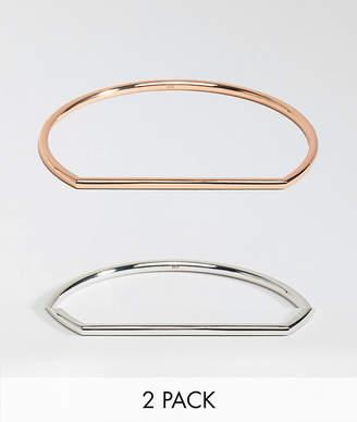 Karen Millen stirrup 2 pack bracelet set