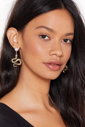 Nasty Gal Pearl Embellished Earrings