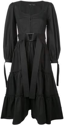 Proenza Schouler Puff Sleeve Tiered Dress