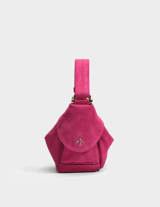 Atelier Manu Micro Fernweh Bag in Fuchsia Suede