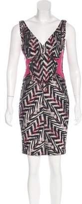 Zac Posen Jacquard Sheath Dress