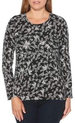 Rafaella Petite Classic Long-Sleeve Top