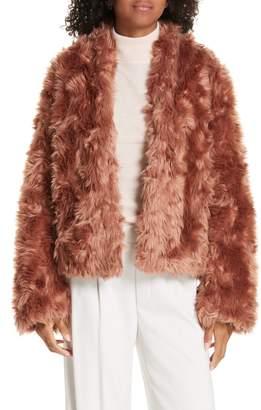 Vince Plush Faux Fur Jacket