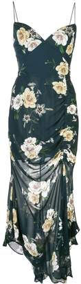 Nicholas floral print ruched dress