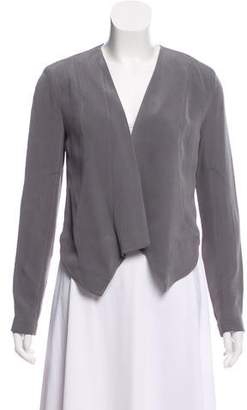Madison Marcus Cropped Silk Jacket