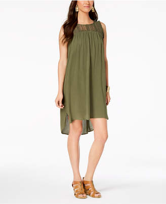 Style&Co. Style & Co Fringe-Trim High-Low Dress, Created for Macy's