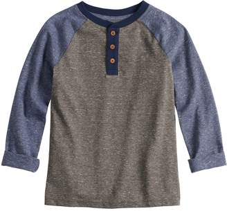 Sonoma Goods For Life Boys 4-12 SONOMA Goods for Life Roll Tab Raglan Henley Top