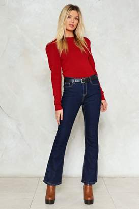 Nasty Gal Cue the Fan-Flare Jeans