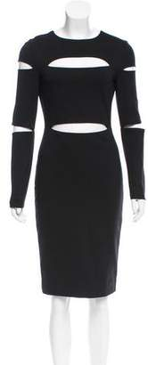 Cushnie et Ochs Cutout Knee-Length Dress