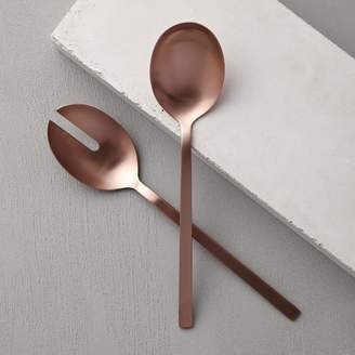 west elm Rose Gold Salad Serving Spoons