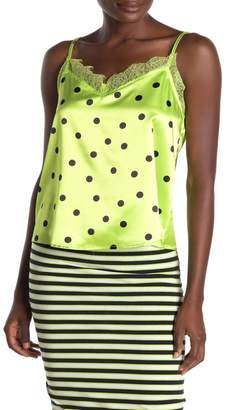 Cotton On Polka Dot Lace Trim Camisole
