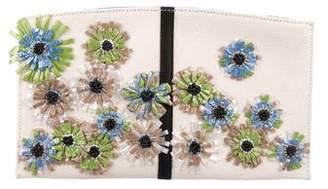 Reed Krakoff Floral Applique Canvas Clutch