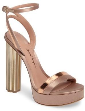 Women's Salvatore Ferragamo Ischia Ankle Strap Platform Sandal