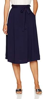 Paris Sunday Women's Midi A-line Skirt with Self Tie