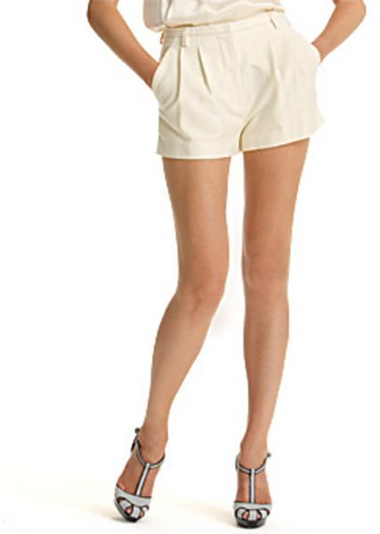 Marc Jacobs Collection Raw Silk Shorts