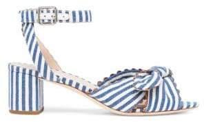 Loeffler Randall Jill Stripe Knotted Denim Sandals