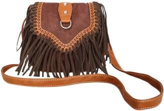 863ecbe96719 Fakeface Womens Ladies Girls Retro Vintage Tassel Fringe Saddle Cross Body  Satchel Fashion Suede PU Leather