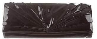 Christian Louboutin Patent Leather Pleated Clutch