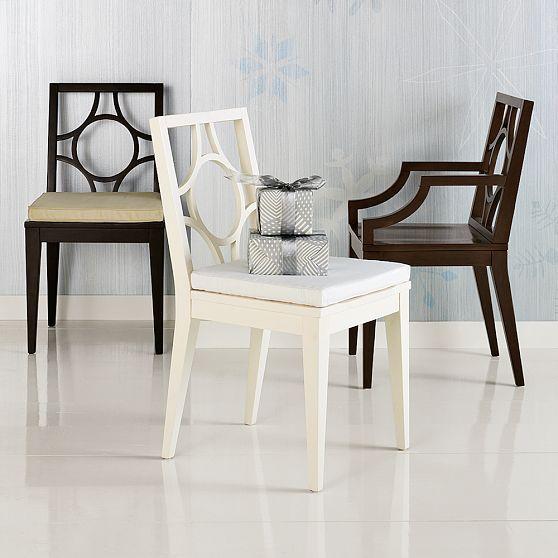 Circle-Cutout Chairs + Cushions