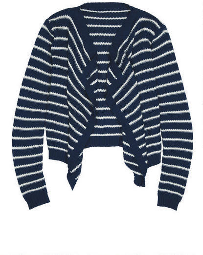 Delia's Stripe Cascade Cardigan