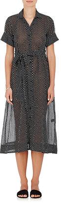 Lisa Marie Fernandez Women's Polka Dot Cotton Shirtdress $595 thestylecure.com