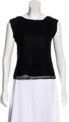 Alice + Olivia Lace Short Sleeve Top