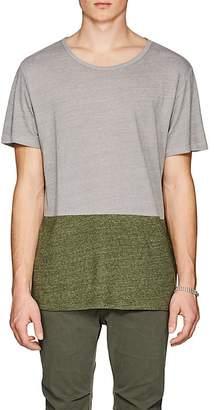 Barneys New York Men's Colorblocked Linen-Blend T-Shirt