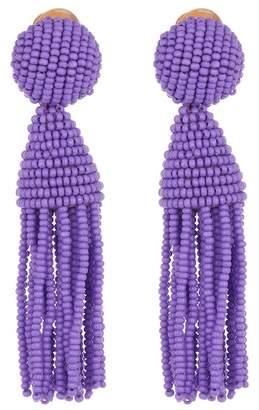 Oscar de la Renta Classic Short Tassel Drop Clip-On Earrings