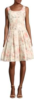 Oscar de la Renta Women's Silk-Blend Box-Pleated Dress