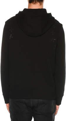 Neil Barrett Men's Military Star Zip-Front Hoodie Sweatshirt
