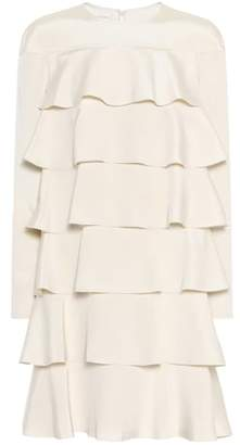 Valentino Tiered silk dress
