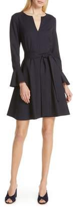 Club Monaco Kasca Ruffle Sleeve Fit & Flare Dress