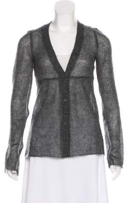 Miu Miu Open Knit V-Neck Cardigan